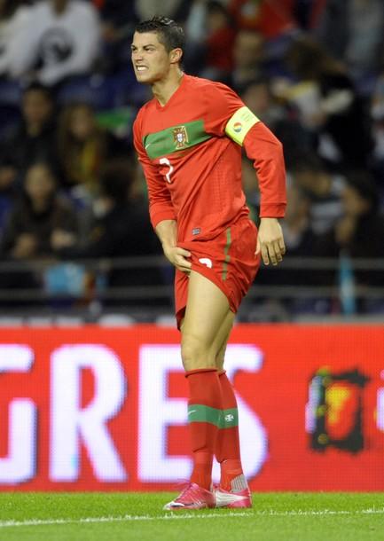 Portugal���s forward Cristiano Ronaldo rea