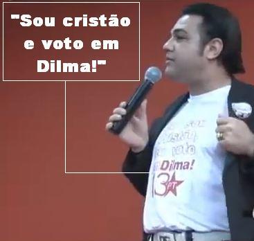 Marcos Feliciano apoiando Dilma